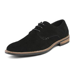 Bruno Marc Men's URBAN-08 Black Suede Leather Bruno Marc Men's URBAN-08 Black Suede Leather Lace Up Oxfords Shoes Lace Up Oxfords Shoes