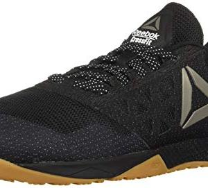 Reebok Men's CROSSFIT Nano 6.0 Climbing Shoe, Black/Gum