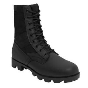 Rothco Military Jungle Boots, 9 Wide, Black
