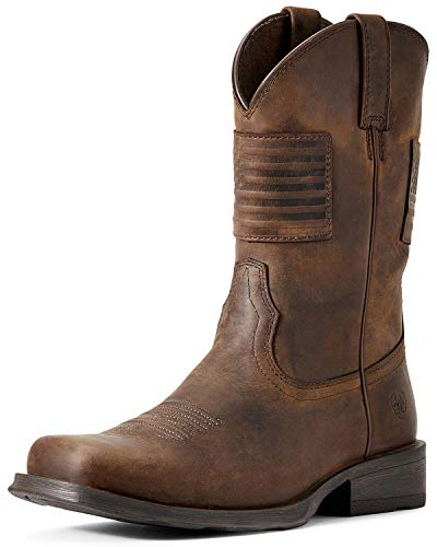 ARIAT Men's Men&Rsquo;S Rambler Patriot Distressed Western Boot &Ndash;