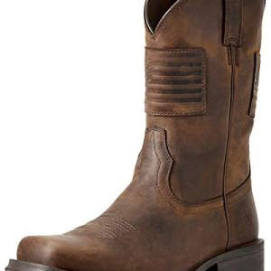 ARIAT Men's Men&Rsquo;S Rambler Patriot Distressed Western Boot &Ndash;