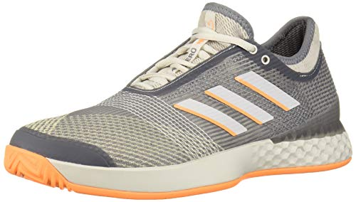 adidas Men's adizero Ubersonic 3 Tennis Shoe, Grey/grey/flash Orange