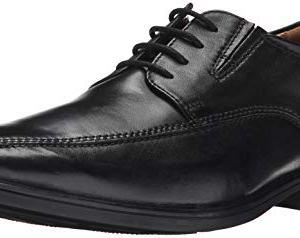 CLARKS Men's Tilden Walk,Black Leather