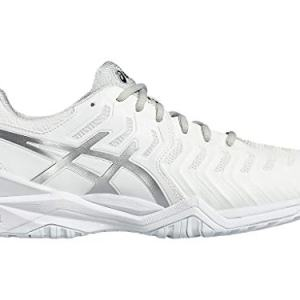 ASICS Men's Gel-Resolution 7 Tennis Shoe, White/Silver