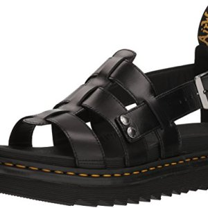 Dr. Martens Terry Black Brando Sandal, 9 Medium
