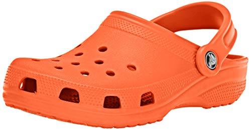 Crocs Classic Clog   Comfortable Slip on Casual Water Shoe, Tangerine, 12 M US Women / 10 M US Men