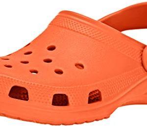 Crocs Classic Clog | Comfortable Slip on Casual Water Shoe, Tangerine, 12 M US Women / 10 M US Men