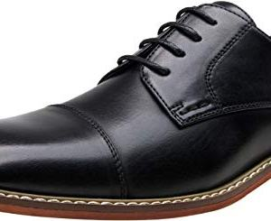 VOSTEY Men's Oxford Formal Dress Shoes Business Cap Toe Derby Shoes
