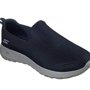 Skechers mens Go Walk Max-Athletic Air Mesh Slip on Walking Shoe,Navy/Gray