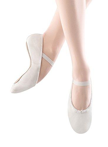 Bloch Girls Dance Dansoft Full Sole Leather Ballet Slipper/Shoe, White