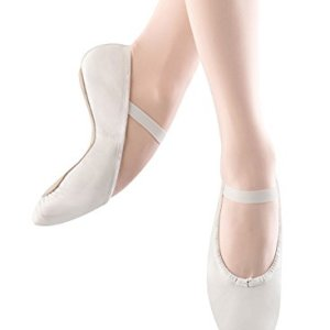 Bloch Girls Dance Dansoft Full Sole Leather Ballet Slipper/Shoe, White