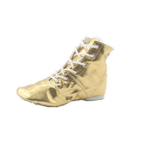 PU Kid Girl's Jazz Dance Boots Gold