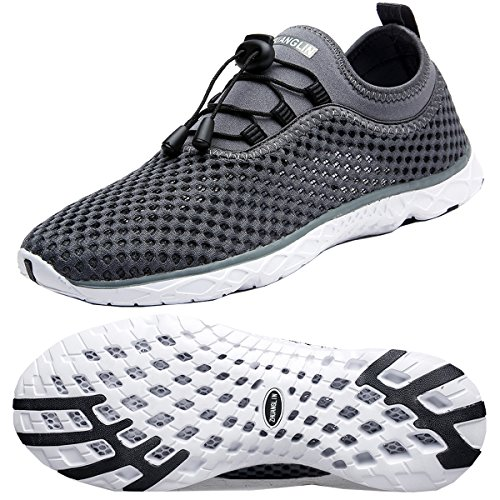 Zhuanglin Men's Quick Drying Aqua Water Shoes,Darkgrey