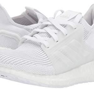 adidas Unisex-Kid's Ultraboost 19 Running Shoe, White/White/Grey