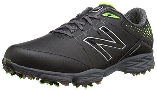 New Balance Men's Waterproof Spiked Comfort Golf Shoe, Black/Green