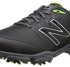 New Balance Men's Waterproof Spiked Comfort Golf Shoe, Black/Green