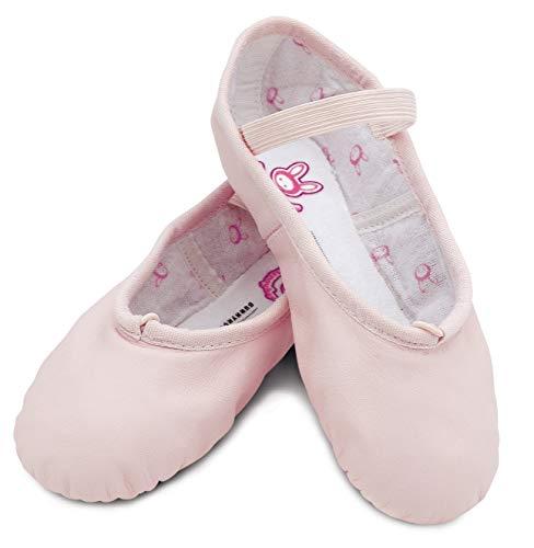 Bloch Girl's Dance Bunnyhop Full Sole Leather Ballet Slipper/Shoe
