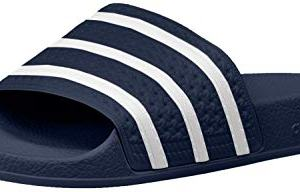 adidas Originals Men's Adilette Slide Sandals, Adidas Blue/White/Adidas Blue