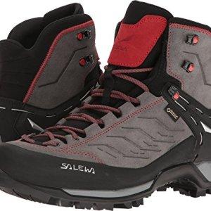 Salewa Men's Mountain Trainer Mid GTX Alpine Trekking Boot, Charcoal/Papavero