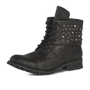 Gia Mia Dancewear Big Girl's Convertible Combat Boot Fashion, Black