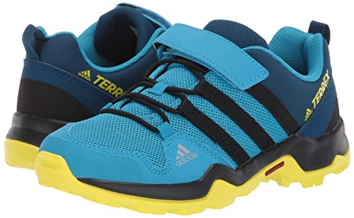 adidas outdoor Terrex AX2R CF Kids Hiking Shoe Boot, Cyan/Black/Shock Yellow