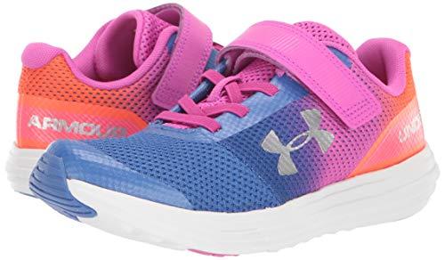 Under Armour Girls' Pre School Surge RN Prism Adjustable Closure Sneaker