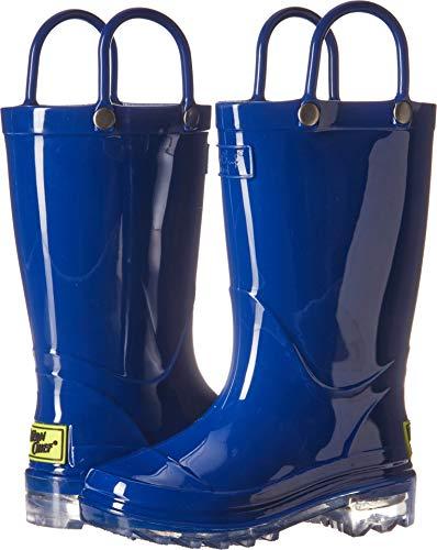 Western Chief Kids Unisex-Kid's Waterproof PVC Light-Up Rain Boot