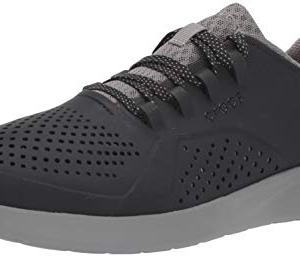 Crocs Men's LiteRide Pacer Sneaker, Black/Smoke
