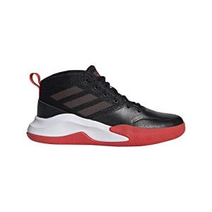adidas Unisex-Kid's OwnTheGame Wide Basketball Shoe, Black/Active Red/White
