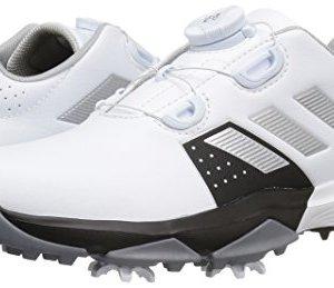 adidas Kids' Jr Adipower Boa Ftwwht/Si Skate Shoe, White