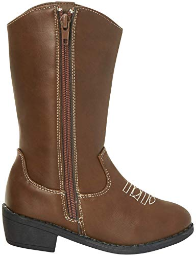 bebe Girls Western Cowboy Boot with Easy Side Zipper Bebe Girls' Western Cowgirl Boots are the perfect footwear for the fall and winter. These stylish western style boots have attractive topstitching, great for young ladies that want that classic cowgirl look. She'll love wearing them with jeans, shorts, dresses, and skirts. These year round boots will keep her warm in the winter and still be cute when summer rolls around. Don't walk away from this fantastic deal.