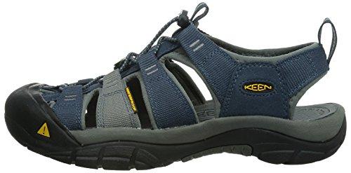 KEEN Men's Newport H2 Sandal, Midnight Navy/Neutral Gray