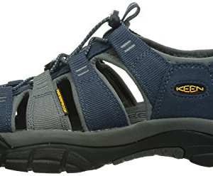 KEEN Men's Newport H2 Sandal, Midnight Navy/Neutral Gray