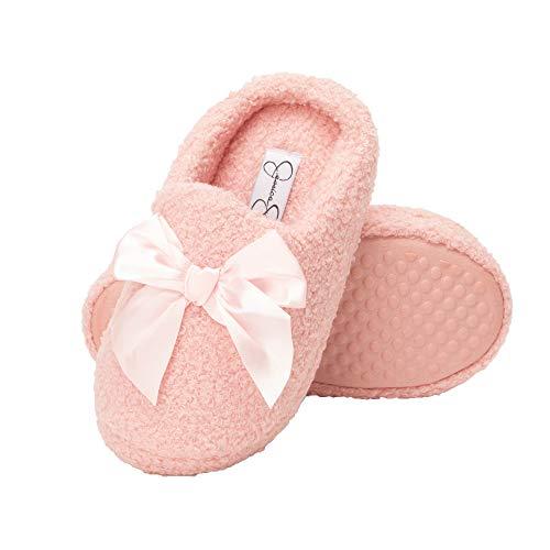 Jessica Simpson Girls Slip-On Clogs - Fuzzy Comfy Warm Memory Foam Sherpa