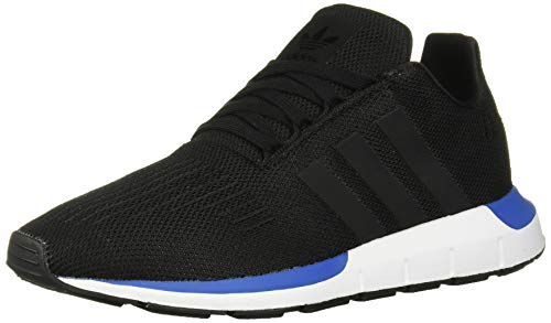adidas Originals Unisex-Kid's Swift Running Shoe, Black/Black/Blue