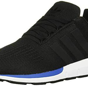 adidas Originals Unisex-Kid's Swift Running Shoe, Black/Black/Blue