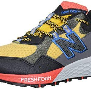New Balance Men's Trail Running Shoe, Varsity Gold/Black/Toro Red