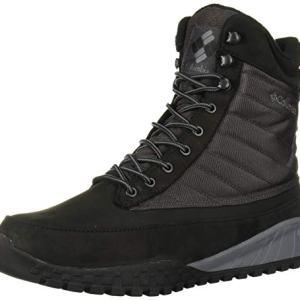Columbia Men's Fairbanks 1006 Snow Boot, Black, ti Grey Steel, 13 Regular US