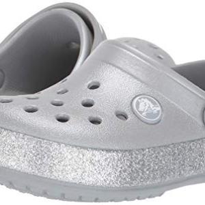 Crocs Kid's Glitter Clog, Silver