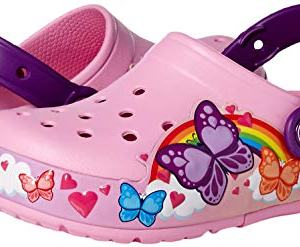 Crocs Kids' Fun Lab Butterfly Band Light-Up Clog, Carnation