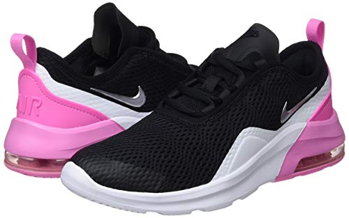 Nike Girl's Air Max Motion 2 Shoe Black/Metallic Silver/Psychic Pink/White