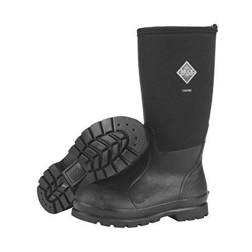 Muck Chore Classic Men's Rubber Work Boots,Black,Men's 13 M US / Women's