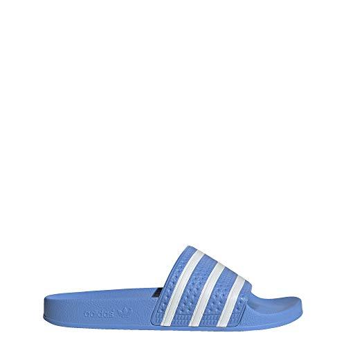 adidas Originals Men's Adilette Slide Sandal, Real Blue/White/Real Blue