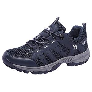 CAMEL CROWN Hiking Shoes Men Mesh Trekking Shoe Outdoor Walking Sneakers Dark Blue