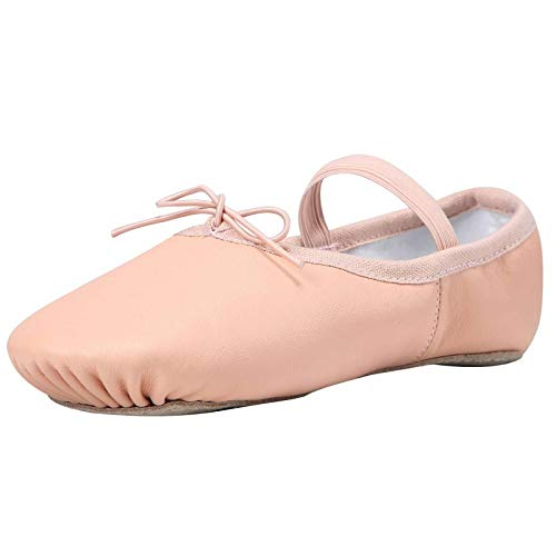 Linodes Leather Ballet Shoes/Ballet Slippers/Dance Shoes Little Kid Nude