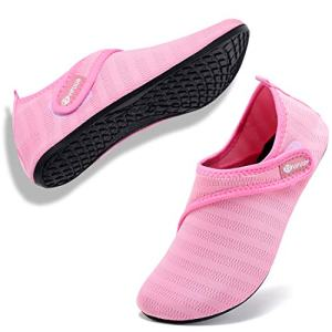 VIFUUR Mens Womens Water Socks Quick Dry Barefoot Beach Pool Swim