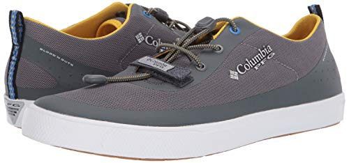 Columbia PFG Men's Dorado CVO PFG Boat Shoe, Ti Grey Steel, Electron Yellow