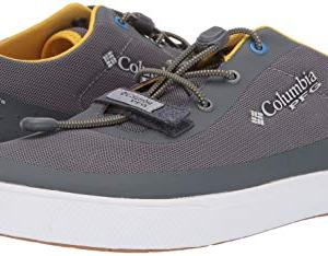 Columbia PFG Men's Dorado CVO PFG Boat Shoe, Ti Grey Steel, Electron Yellow