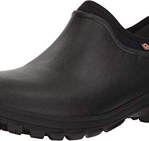 Bogs Men's Sauvie Slip On Waterproof Rain Boot, Black, 9 M US