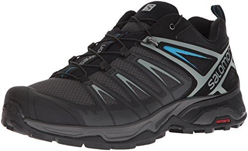 Salomon Men's X Ultra 3 Hiking Shoes, PHANTOM/Black/Hawaiian Surf